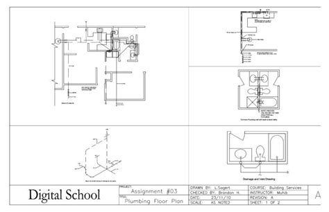 plumbing floor plan sle assignment works by laurence sagert at coroflot