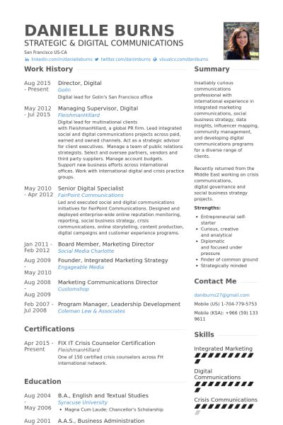 social media resume template social media specialist resume sles visualcv resume
