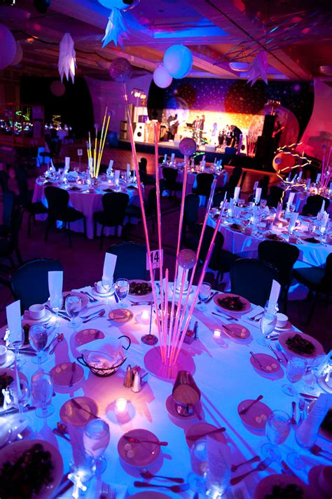 dance themed events neon table centerpieces for outer space themed fundraiser
