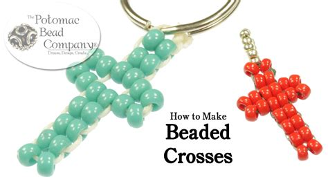 how to make keychains with pony make easy beaded crosses