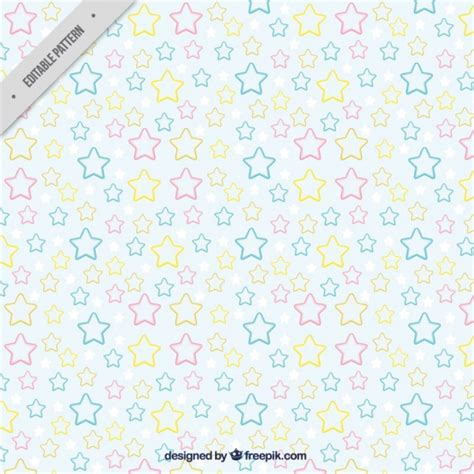 pattern cute pastel cute pattern with stars in pastel colors vector free