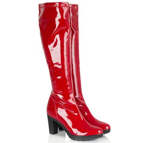 womans knee high boots daniel patent scollette women s knee high boot