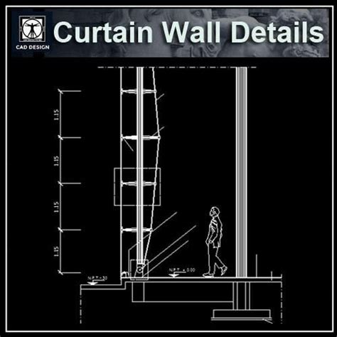 curtain wall cad detail 10 best curtain wall details images on pinterest