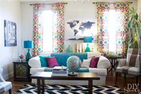 Colorful Living Room Escape Colorful Eclectic Family Room Reveal Diy Show