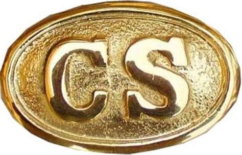 Gildan Civil War civil war brass belt buckle c s