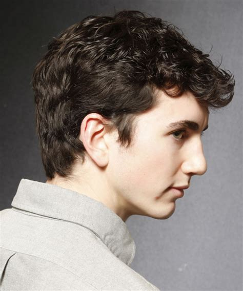 curly in back featered on the sides mens hairstyles