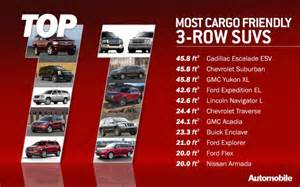 Chevrolet Traverse 2013 Interior Top 11 Three Row Suvs With The Most Cargo Room