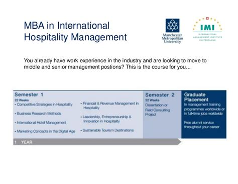 Hospitality Mba by Webinar An Mba In The Hospitality Industry A Necessity