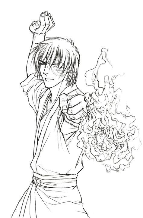 coloring pages avatar characters prince zuko on avatar cartoon charaters coloring pages