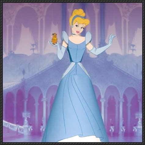 Disney Paper Crafts - cinderella papercraftsquare free papercraft
