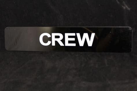 crew sign custom laser cutting acrylic displays hamlet