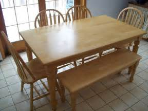 Kitchen Table With Bench Seating Kitchen Table With Benches Treenovation