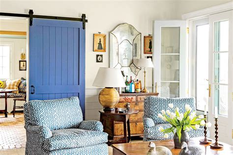 southern living family rooms use a barn door 106 living room decorating ideas