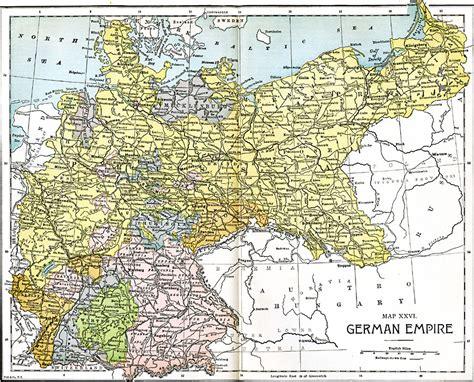 german physical map german empire