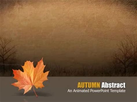Autumn Abstract A Powerpoint Template From Presentermedia Com Fall Powerpoint Template
