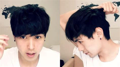 How To Make Hair Style Boy At Home Without Gel In by Korean Hair Tutorial