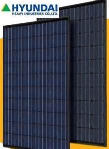 Hyundai 250 Watt Solar Panels Hyundai His M250mg 250 Watt Poly Solar Panel Black Black