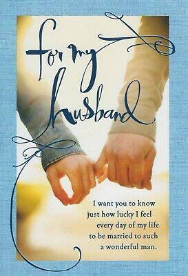 hallmark   husband      happy birthday greeting card ebay