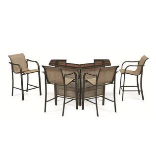 U Shaped Bar Table Grand Harbor Edgewater Brown Bar Table With Shelves Kmart