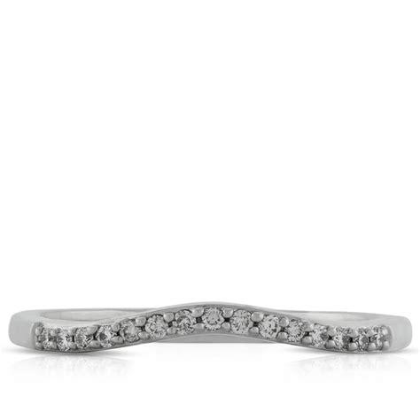 Contour Diamond Wedding Band – Diamond Wedding Band with Round Contour in 14k White Gold