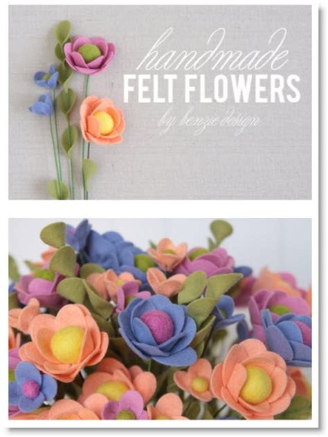 Handmade Felt Flowers Tutorial - felt flower tutorial felting