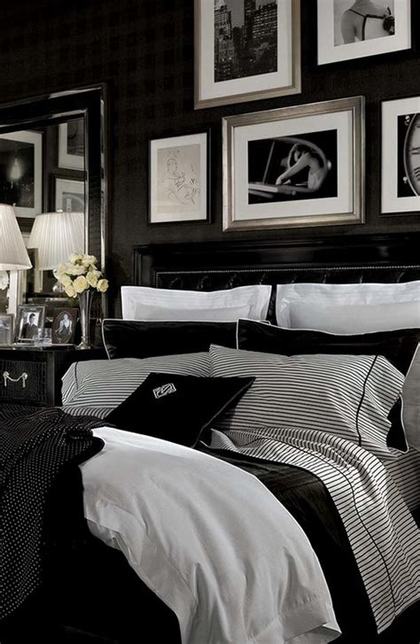 black and white decor for bedroom black design inspiration for a master bedroom decor