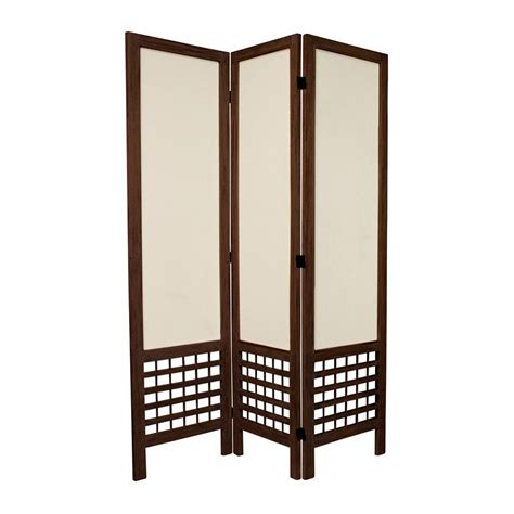 Shop Oriental Furniture Room Dividers 3 Panel Burnt Brown Privacy Room Dividers
