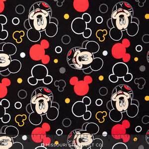 mickey mouse mickey head tossed black yardage disney springs creative products missouri