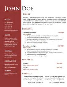 Creative Resume Free Templates by Free Creative Resume Cv Template 547 To 553 Free Cv Template Dot Org