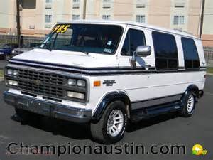 1995 chevrolet chevy g20 passenger conversion in white