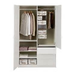 3 Door Wardrobe With Drawers And Shelves Musken Wardrobe With 2 Doors 3 Drawers White