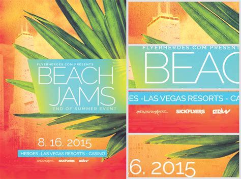 template flyer beach beach jams flyer template flyerheroes