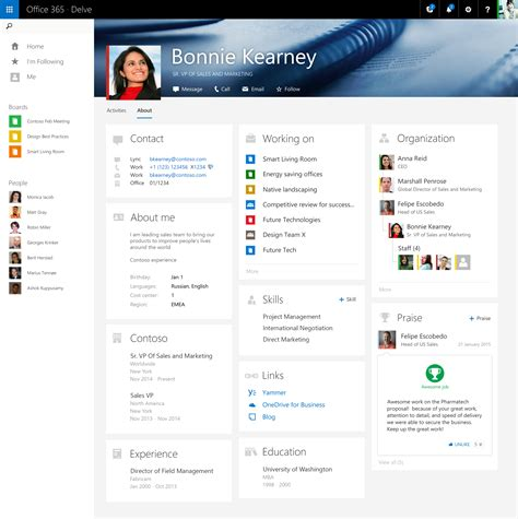 To Find Peoples Info Office 365 Delve Introduces Linkedin Type User Profiles Microsoft Cloud Experts