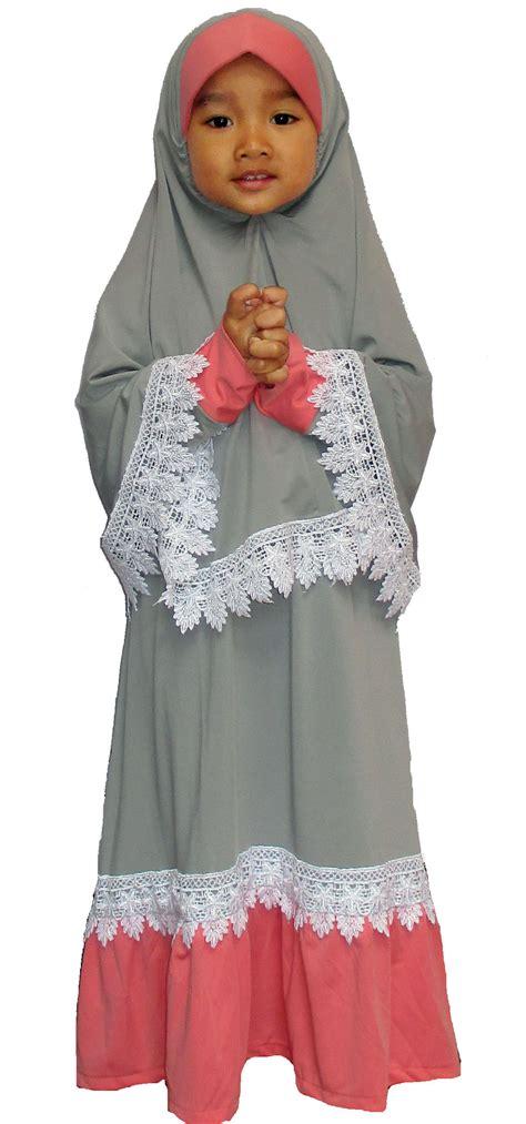 Gamis Putih Anak Baju Muslim Anak Hias Bordir Senada 7 9 1526 koleksi terbaru model baju muslim anak perempuan yang cantik