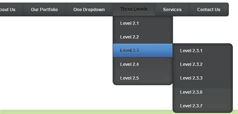 adding css3 multi level drop menu for 30 css3 menu and navigation tutorials