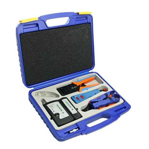 network tool network installation tool kit with cable tester