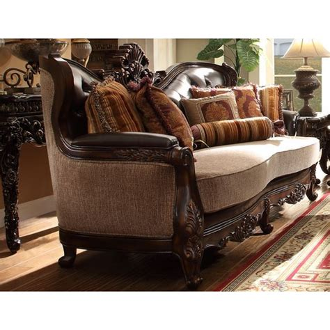 Hd 3630 Homey Design Traditional Sofa Set Traditional Traditional Sectional Sofas Living Room Furniture