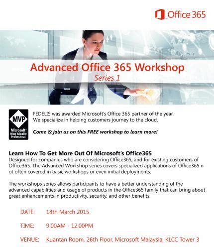 advanced office 365 workshop | peatix