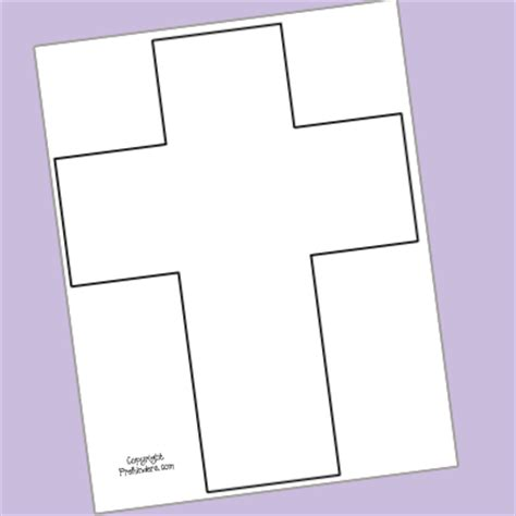 easter cross template printable easter of jesus cross prekinders