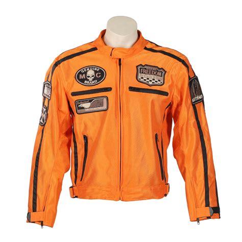 Motorrad Lederjacke Sommer by Sommer Motorradjacke Bos 6488 Orange Orange Insportline