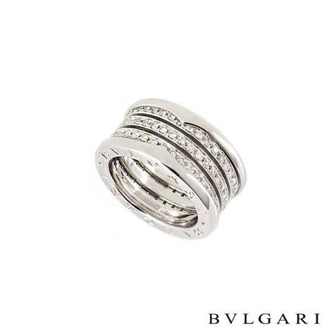 Bvlg White Set bvlgari 18k white gold set b zero1 ring an850553 rich diamonds of bond