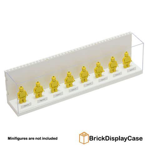 Display Box Lego White brick display for lego minifigures white