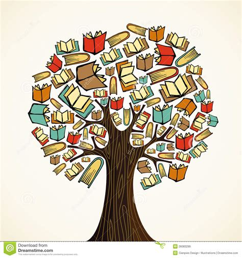 the sapling books education concept tree with books royalty free stock