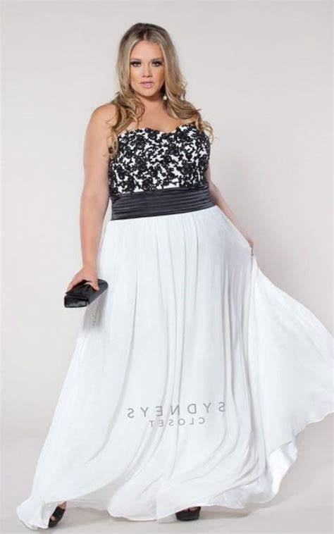 black and white wedding dresses plus size plus size black and white wedding dresses pluslook eu