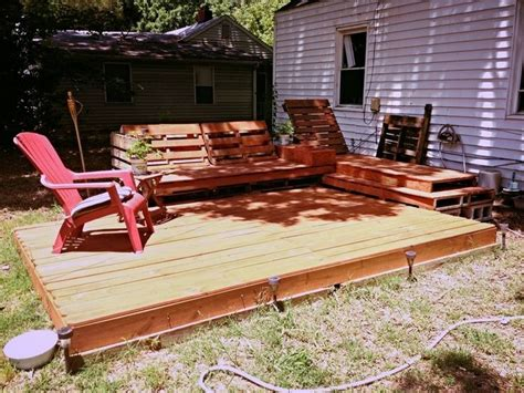 diy pallet patio decks with furniture pallet wood projects