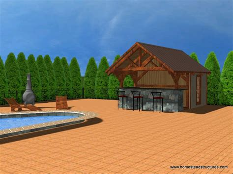 Pool House Designs Homestead Structures Timber Frame Pool House Plans