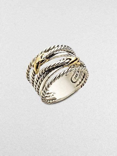 david yurman sterling silver 18k gold cable ring at