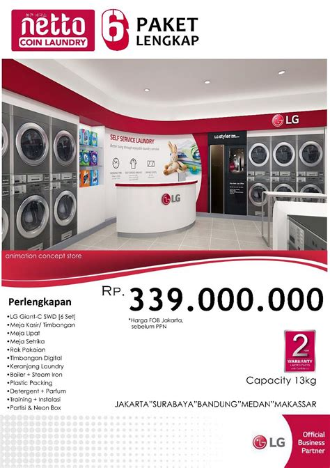Paket Lengkap Sk Ii paket netto coin laundry 6 lengkap laundry mart indonesia