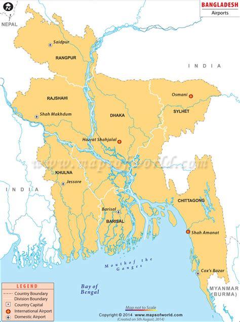 map of bangladesh airports in bangladesh bangladesh airports map