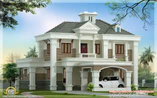 beautiful double floor home design 2500 sq ft kerala modern house design concept